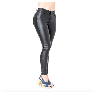 Lowla 0719 Faux Leather Pants for Women Black